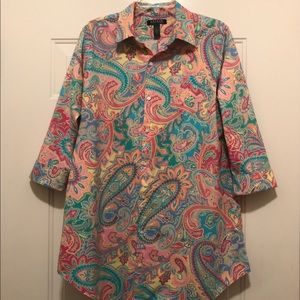 Ralph Lauren Paisley Print Sleep Shirt